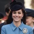 Катрин сияе в синьо на среща с кадети от ВВС
