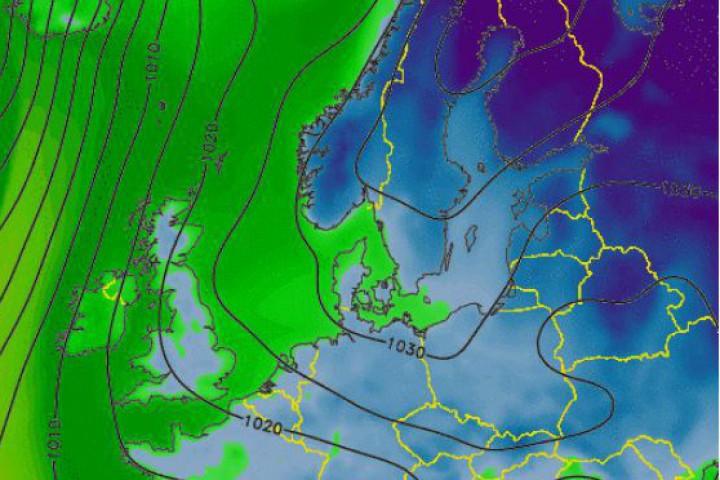 Това показват данните от метеорологичните спътници, публикувани в meteox.com. Настъплението